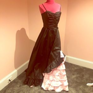 FABULOUS vintage 80s taffeta prom dress